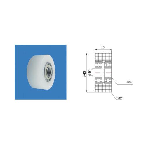 Profilrollen  Kunststoffrolle mit//ohne Kugellager Polyamid Rollen Ø 40mm-Ø65mm