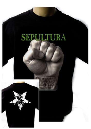 SEPULTURA SLAVE NEW WORLD/'93 Black T-shirt Men Shirt Rock Band Tee Music