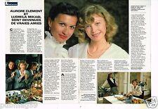 Coupure de presse Clipping 1984 (2 pages) Aurore Clément et Ludmila Mikael