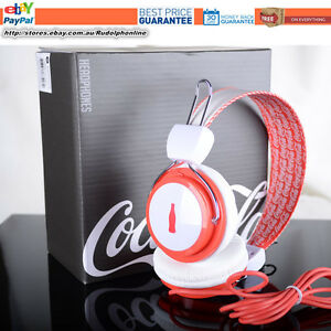 Coca-cola-official-home-collection-Red-amp-White-stereo-headphone-special-edition