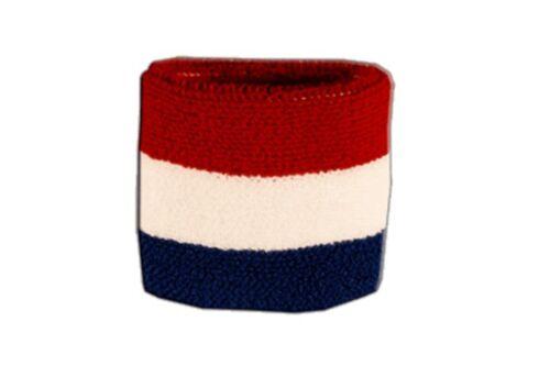 Schweißband Fahne Flagge Niederlande 7x8cm Armband für Sport