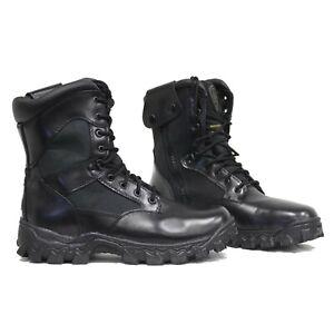 333f2876526 Details about Rocky AlphaForce Zipper Waterproof Black Side Zip Leather  Mens Boots 2173 10W