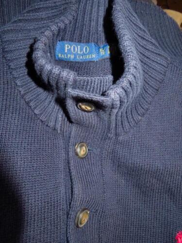 Sweater Polo Ralph twist Cotton scuro Blu Xl Lauren High Mockneck Uomo 6qEzgw6
