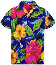 V.H.O Funky Hawaiian Shirt Men Short-Sleeve Front-Pocket Christmas Designs