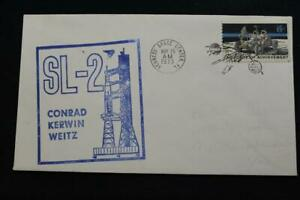 Space-Cover-1973-con-Vista-Annullo-Postale-SKYLAB-2-1ST-Manned-Missione-Launch