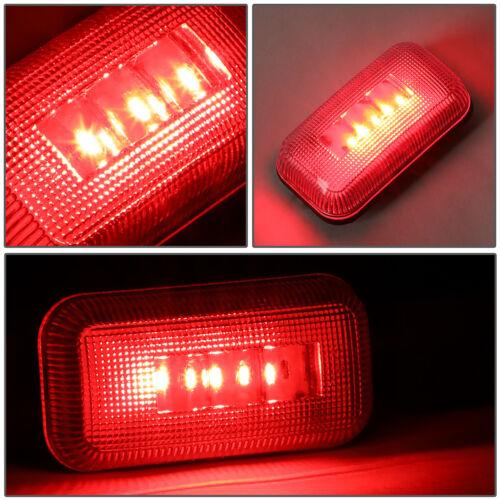 FOR 15-19 SILVERADO SIERRA 4X DUALLY BED SIDE FENDER LED MARKER CAB LIGHT CLEAR