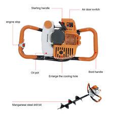 52cc Post Hole Digger Gas Powered Earth Auger Borer Machine 3 Auger Drill Bit