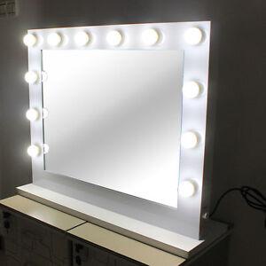 hollywood lighted makeup vanity mirror aluminum dimmer white free 14 led bulbs ebay. Black Bedroom Furniture Sets. Home Design Ideas