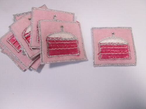 Set of 10 Homemade Card Embroidered Cake Baking Design Motifs Patches #20D98