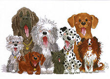 Cross Stitch Kit ~ Suzy's Zoo Dogs of Duckport 8 Smiling Canines #038-0178