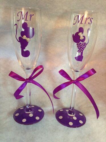 et Mme Flûtes à champagne-Disney Mariage Cadeau Idéal Pour Mariée et marié M