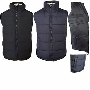 herren gepolstert gef ttert fleece gesteppt rmellose weste gilet mantel jacke ebay. Black Bedroom Furniture Sets. Home Design Ideas