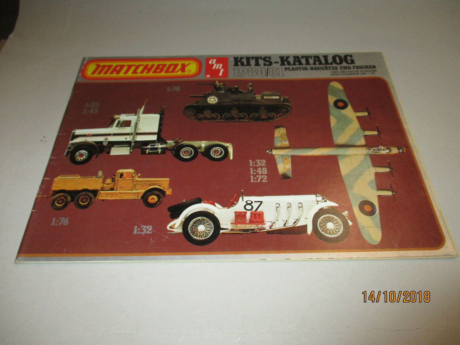 MATCHBOX Modèle Kits catalogue  1980 81  offrant 100%