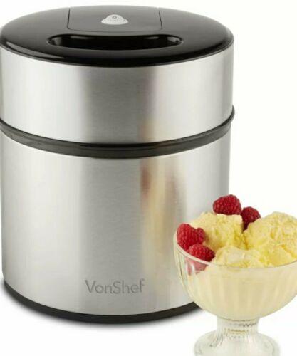 Nouveau-vonshef 2 L Machine à crème glacée