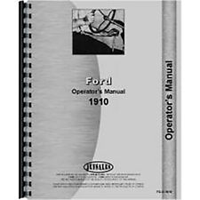 Operators Manual Fits Ford 1910 Tractor
