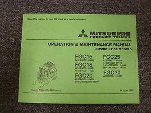 mitsubishi fgc15 fgc18 fgc20 forklift truck owner operator rh ebay com Mitsubishi Forklift Service Manuals Toyota Forklift Manual