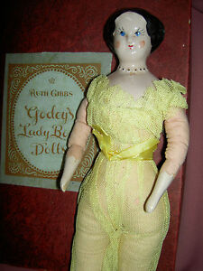 LARGE-1946-china-RUTH-GIBBS-Godey-039-s-Lady-034-Little-Women-034-12-034-doll-w-gold-shoes