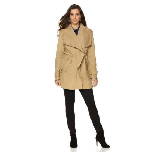 Camuto Vince 1x Kaki Drapey Anorak Manches Longues Veste Taille F66wUd