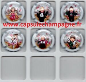Capsules-de-champagne-Serie-Generique-N-1115-A-1115f-7-familles-Famille-Rose