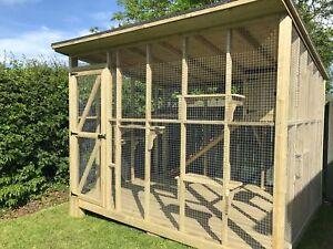 Details About Wooden Outdoor Bespoke Cat Housecatio Cat Box Cat Run Enclosure