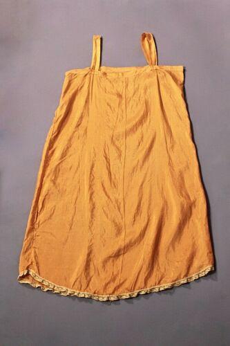 VTG Women's 20s 30s Orange Slip / Nightgown Sz S 1