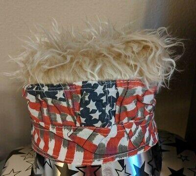 US Flag-Stars Stripes-4th of July-Bandana//Doo Rag BLONDE wig FlairHair Biker Cap