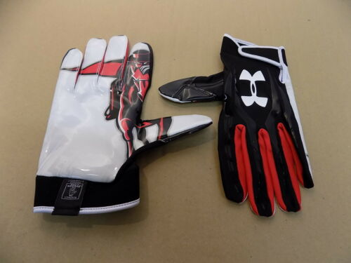 NEW Texas Tech Game Issued Under Armour F3 Football Receiver Sticky Gloves// XXL