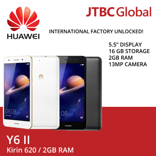 New HUAWEI Y6II CAM-L21 5.5 Inch Dual SIM FACTORY UNLOCKED Android Smartphone