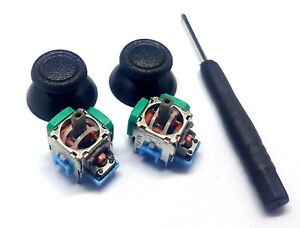 2x-Sensor-3D-Steuermodul-Joystick-AnalogStick-Thumbsticks-fuer-Playstation-4-PS4