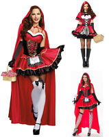 Little Red Riding Hood Costume Halloween Adult Women Hen Party Cosplay Outfits