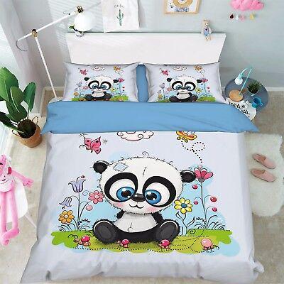 Bettwäsche Liberal 3d Panda Anime 629 Bett Kissenbezüge Steppen Duvet Decken Set Single De Sunmmer Bettdecken- & Kopfkissen-sets