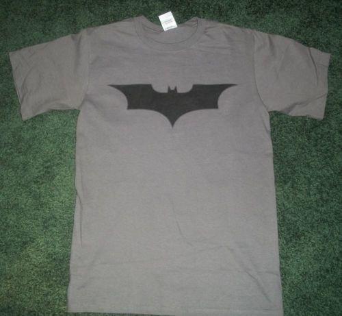 Black on Gray  BATMAN tee t-shirt the dark knight  rises