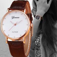 Fashion Unisex Women Men Quartz Wrist Watch Stainless Steel Geneva Analog Watch