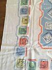 "Vintage Israel Jerusalem Themed Tablecloth 59"" X 45"""