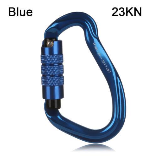 12//23//24//25KN D Shape Aluminum Carabiner Climbing Key Hook Security Master Lock.