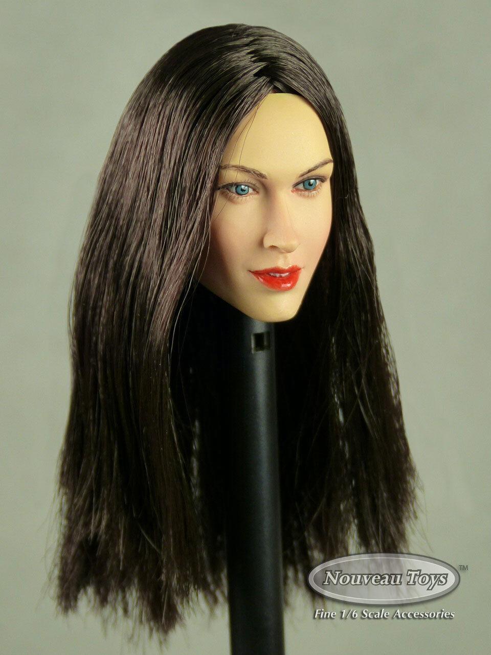 1 6 Scale Phicen, TBLeauge, Kumik, NT Female Head Sculpt Samantha w  Dark Hair