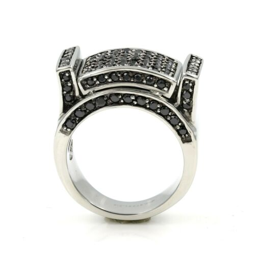 Stainless Steel 316 Pave Men/'s Statement CZ SET Pinky Ring SIZE9-12