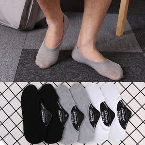 3//6 Pairs Women//Men Invisible Low Cut Cotton Boat Non-Slip Loafer No Show Socks