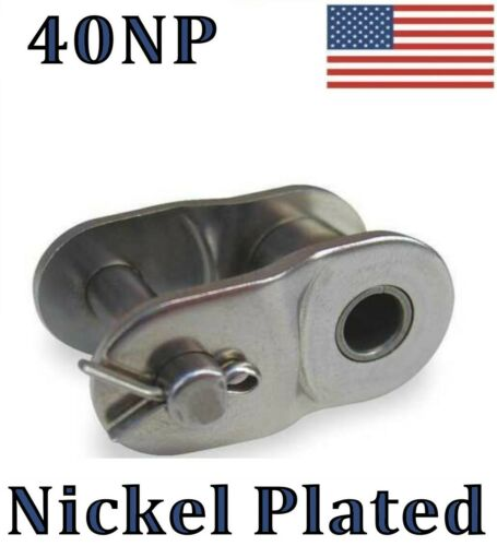 "for #40NP roller chain 1//2/"" Pitch #40NP Nickel Plated Offset Link QTY 10"