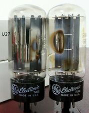 U27 Match 1 pair GE 5U4GB D GETTER TUBES FOR AMPLIFIER 5U4G U52 274A
