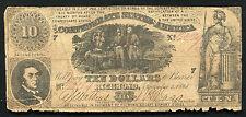 T-30 1861 $10 Ten Dollars Csa Confederate States Of America