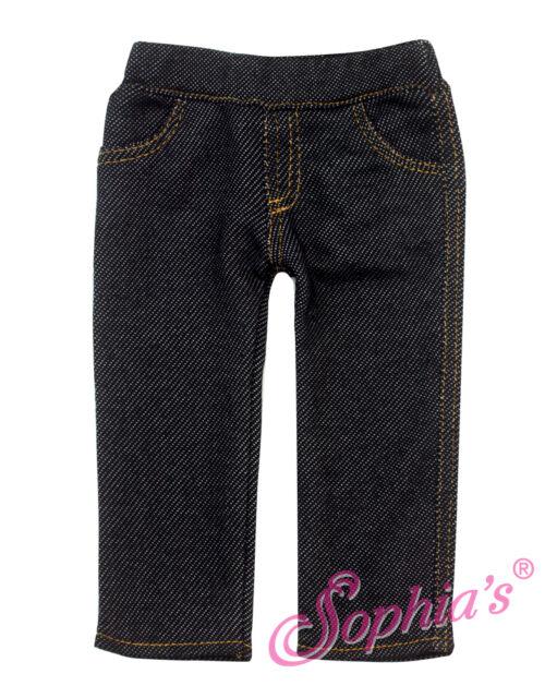 "Black Jeggings Jeans fits 18"" American Girl Doll Denim Pants leggings"