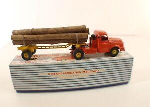 Dinky Toys F 36a Tracteur Willème Avec Semi-remorque Fardier En Boîte