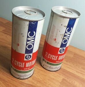 OMC-Outboard-Marine-Ontario-Castrol-2-cycle-motor-oil-can-Tin-Vintage-Canadian