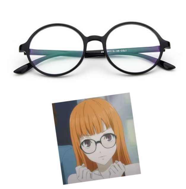 Futaba Sakura Round Glasses Persona 5 Game Anime Cosplay Kurusu Akira Costume