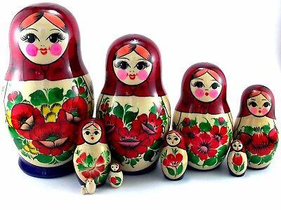 Babuschka MATRIOSKA cioé matruschka bambole russa 10 pezzi 10 pezzi