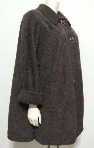 10 lana oversize Cappotto Casor Brown Mohair Alpaca Large Us Swing 40 in taglia Italia Zqq70