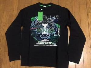 KENZO-SWEAT-PULLOVER-MEN-LONG-SLEEVES-BLACK-TIGER-PRINT-XS-EXTRA-SMALL-NEW-RARE