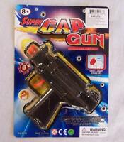 2 Uzi Black Plastic 8 Shot Cap Gun Toy Machine Guns Boys Play Military Item