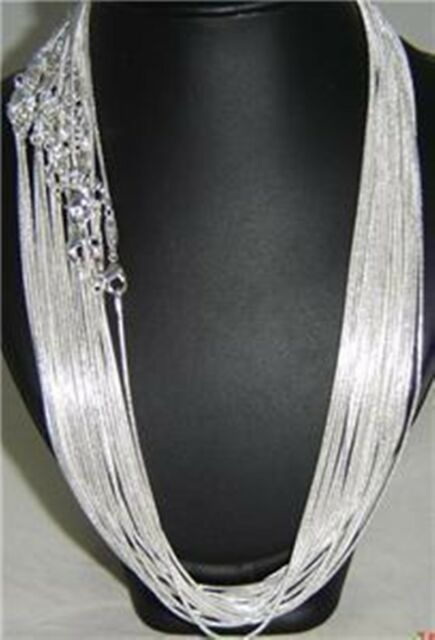 Unisex Silver Plated Wide 2mm Snake Chain Necklace 18inch 10pcs